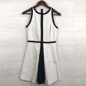 BB Dakota White Black Trim Linen Tank Dress